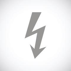 Lightning black icon