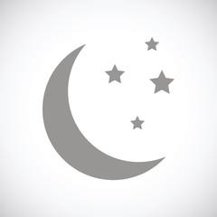 Moon black icon