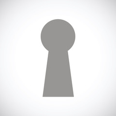 Keyhole black icon
