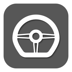 The steering wheel icon. Auto symbol. Flat