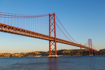 Rail bridge  in Lisbon, Portugal.