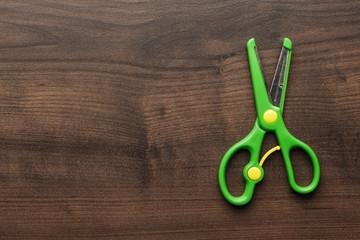 children's scissors on the table
