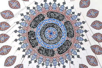 Ceiling decoration of Sehzade Mosque