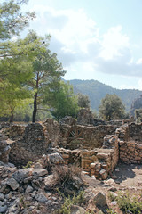 The ruins of the ancient city of Olympos