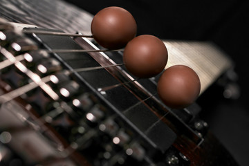 Chocolates on the guitar