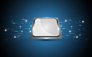 processor digital technology abstract background