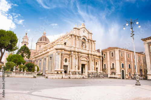 Foto op Aluminium Bedehuis Piazza del Duomo in Catania , Sicily