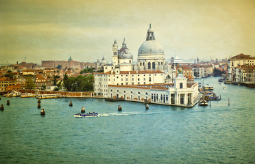 Vintage view of Venice Italy