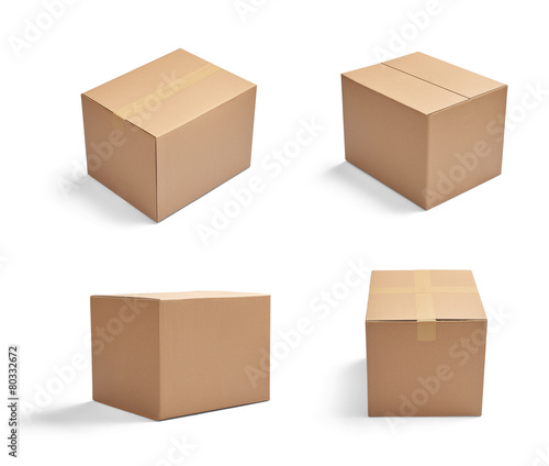 box package delivery cardboard carton - 80332672