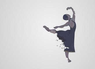 Double exposure Ballet dancer