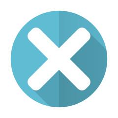 cancel blue flat icon x sign