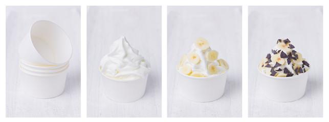 Banane trifft Frozen Yogurt