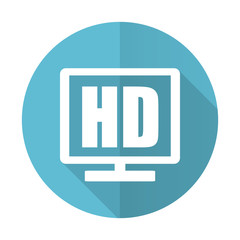 hd display blue flat icon