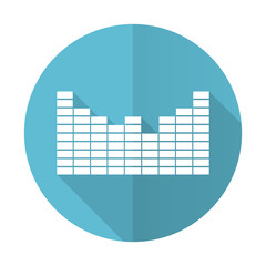 sound blue flat icon