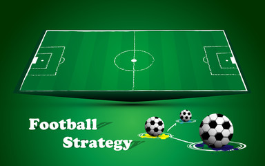 football soccer field match strategy background
