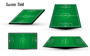 football soccer green field chalk chacoal line design on white b