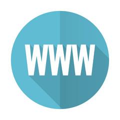 www blue flat icon