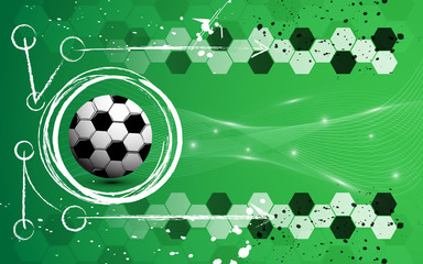 soccer chalk chacoal abstract background