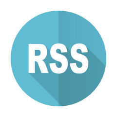 rss blue flat icon