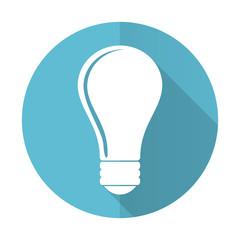 bulb blue flat icon idea sign