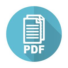pdf blue flat icon pdf file sign