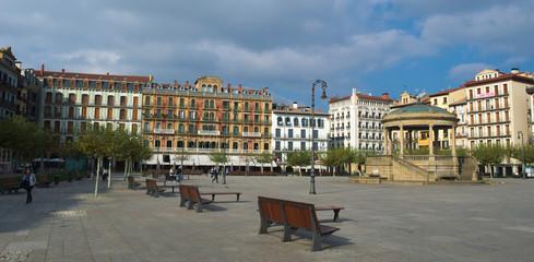 main square of pamplona - plaza del castillo