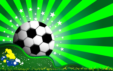 soccer and grass celebration concept background