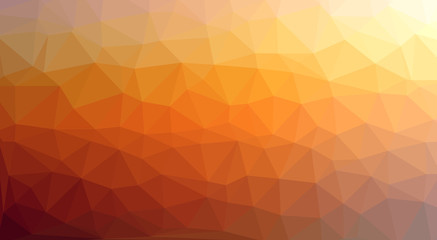 low poly Hintergrund orange