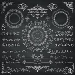 Vector Chalk Drawing Doodle Design Elements