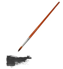 brush painting and grunge brush strokes oil paint  isolated