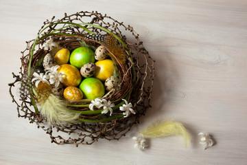 Easter nest eggs