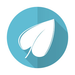 nature blue flat icon leaf symbol