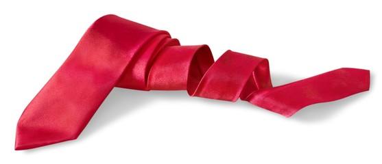 Necktie. red necktie