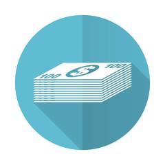 money blue flat icon cash symbol