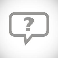Question black icon