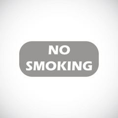 No smoking black icon