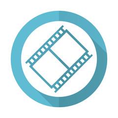 film blue flat icon movie sign cinema symbol