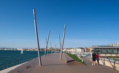 sculpture park in port of santander.