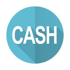 cash blue flat icon