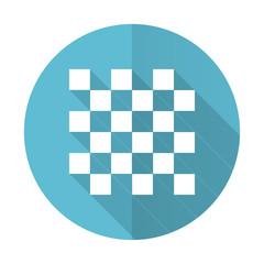 chess blue flat icon
