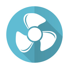fan blue flat icon