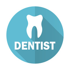 dentist blue flat icon
