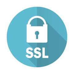 ssl blue flat icon