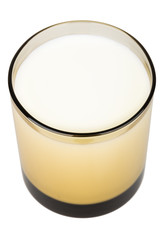 Milk in brown glass