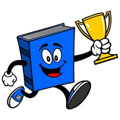 Blue Book Running with Trophy