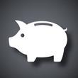 Vector piggy bank icon - 80337425