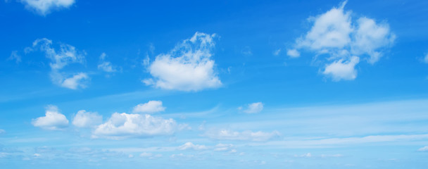 blue sky with soft clouds