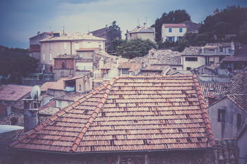 French small town roofs