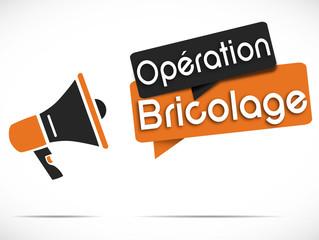 mégaphone : opération bricolage (noir / orange)