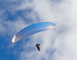 skydiver against the sky